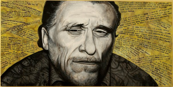 The start of Pop Art Series III - Uncle Hank. Those are all our favorite quotes behind him.