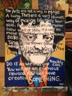 Kurt Vonnegut with one of my favorite quotes. It sold yesterday.