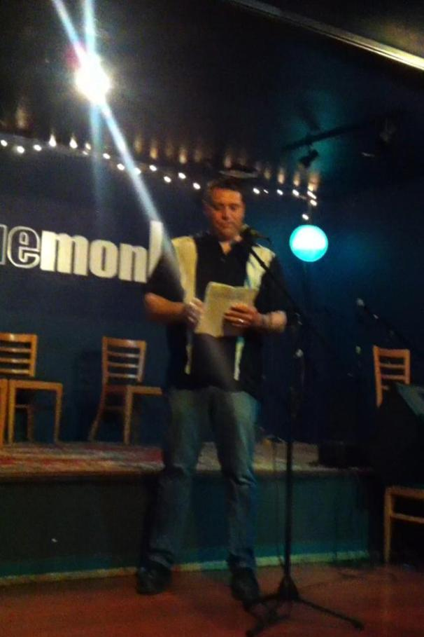 Sean Reading at the Blue Monk