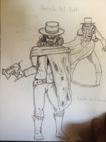 I had a kind of Man With No Name meets Darth Jack White in mind for Qwando.