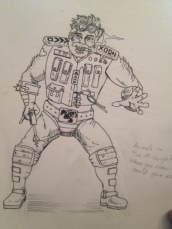 I went with a more bearded commando look thinking Xoon was prior military.