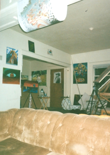 The Asylum. When I came back this is how I lived. I used alcohol, drugs, and art to cope. The lifestyle was crazy.