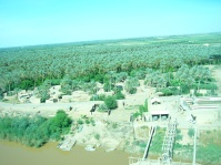 Bank of the Tigress from helicopter