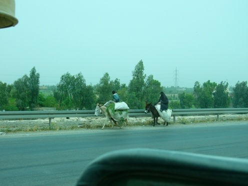 Iraqi women transporting good in 100 degree temp