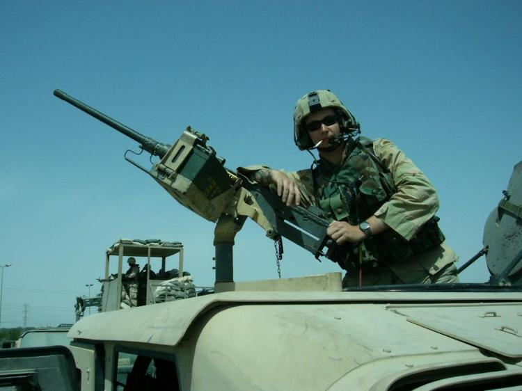 Eric on the .50 cal