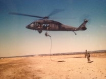 Fast Rope training at Fort Hood, Texas.