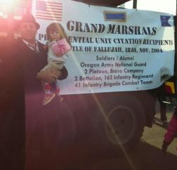 Grand Marshall of the Veterans' Day parade, Albany, OR