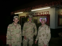 Our last meal in the states before heading to Iraq. Joe Hogland on the right (Tulley Patterson)