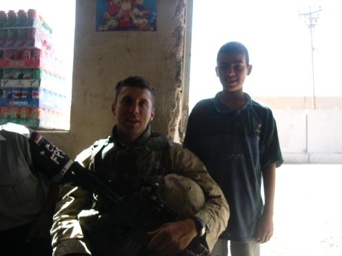 SSG Davis and Mustafa at the Iraqi Police station south of Taji