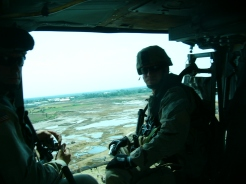 Leaders Recon in helicopter over Baghdad and adjacent area