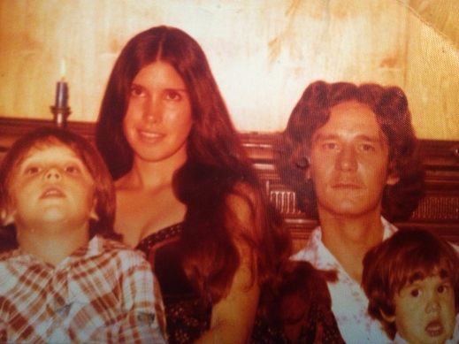 Phil and Janie Davis. Janie had just turned 20 and Phil 22. I was 4 and Keith was 2.