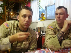 young SSG Davis and Eric who was the inspiration for the character Simon in the book.