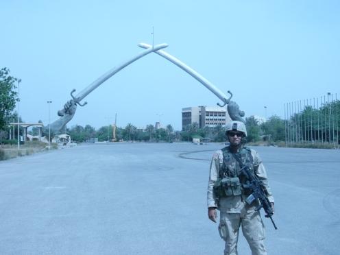 SSG Davis at the cross sabers
