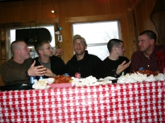 Sometime during the training in Louisiana we snuck away and recreated the Last Supper in a shack that sold crawdads by the pound