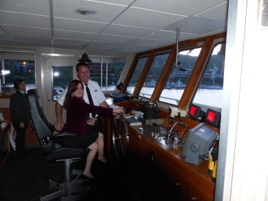 My wife Kell driving the ship