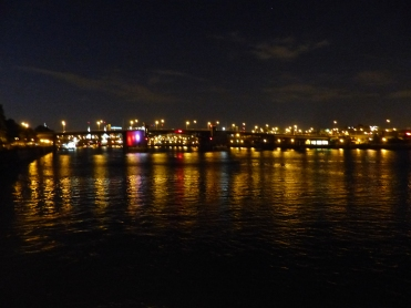 Burnside Bridge is beautiful at night