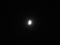 Saturn, the moon, and Mars