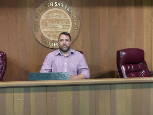 I couldn't resist sitting in the mayor's seat