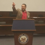 Sean on the floor of the US Senate