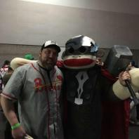 Sean with Sock Monkey Thor at the Rose City Comic Con, 2016