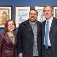 Sean with Gov Brown and Senator Merkley