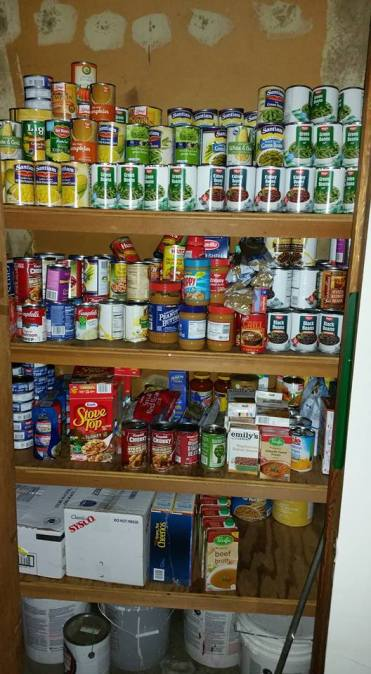 Post 134 Food Pantry. One of three closets.