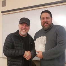 Sean with Bigfoot Hunter Cliff Barackman