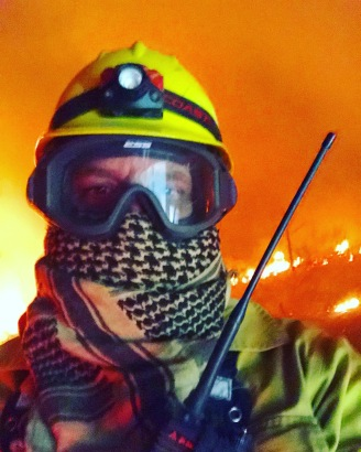 Sean on the Klondike Fire, 2018